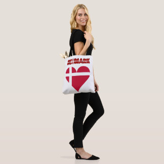 Danish heart tote bag