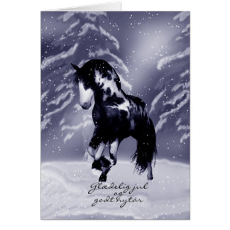 Danish Horse Christmas Card - Digital Painting - G