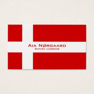 Danish Lessons / Danish Teacher Business Card