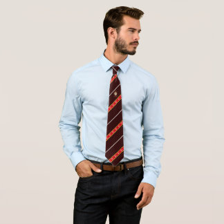 Danish stripes flag tie