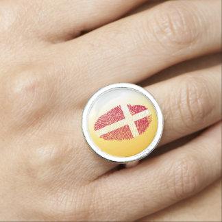 Danish touch fingerprint flag ring