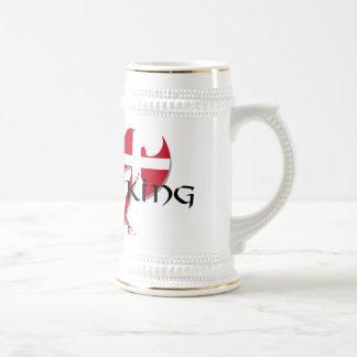 Danish Viking Denmark flag Axe Beer Stein