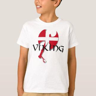 Danish Viking Denmark flag Axe T Shirts
