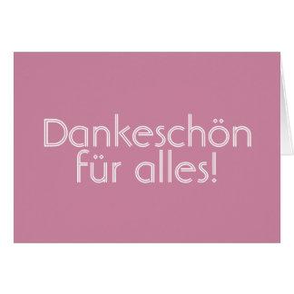 Dankeschön (Thank you) Card (German)