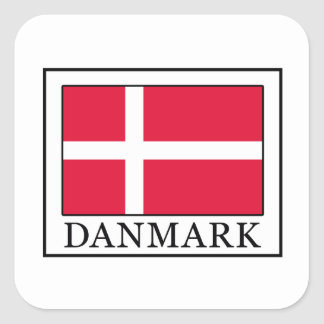 Danmark Square Sticker