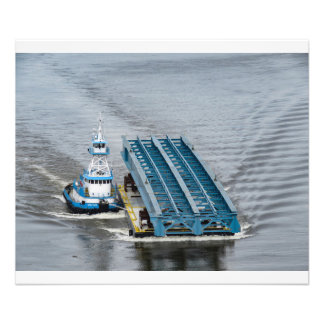 "Dann Ocean Tug--""Ocean Tower"" With IBeams Photo Print"