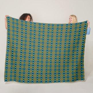 Danny Modern Houndstooth Satin Pattern Fleece Blanket