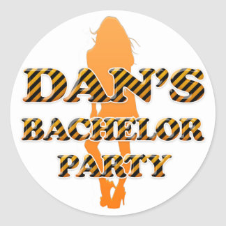 Dan's Bachelor Party Classic Round Sticker