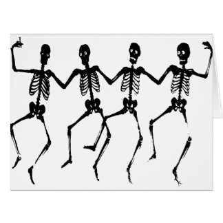 Danse Macabre - skeletons Card