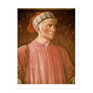 Dante Alighieri (1265-1321) detail of his bust, fr Postcard