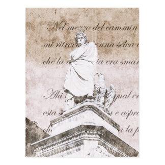 Dante Alighieri - with Divine Comedy verses Postcard