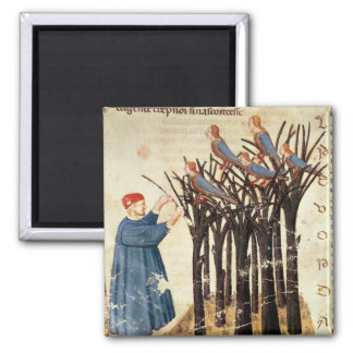 Dante and the Souls Transformed into Birds Square Magnet