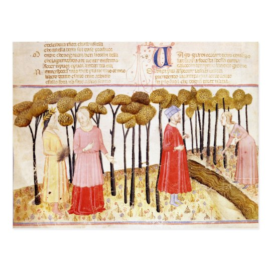 Dante and Virgil  at the Summit of Purgatory Postcard