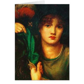 Dante Gabriel Rossetti Greensleeves card