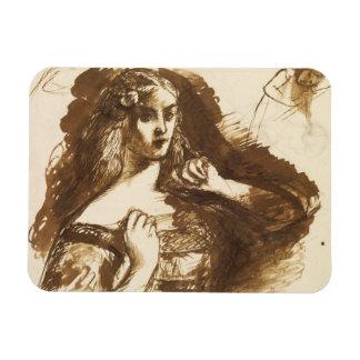Dante Gabriel Rossetti - Half-length Sketch Rectangular Photo Magnet