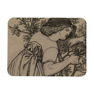 Dante Gabriel Rossetti - King Rene's Honeymoon Rectangular Photo Magnet