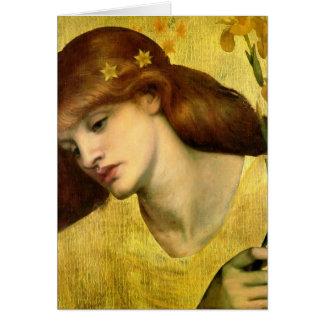 Dante Gabriel Rossetti- Sancta Lilias Card
