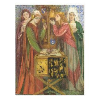 Dante Gabriel Rossetti- The Blue Closet Postcard