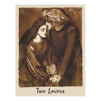 Dante Gabriel Rossetti Two lovers 1850 Postcard