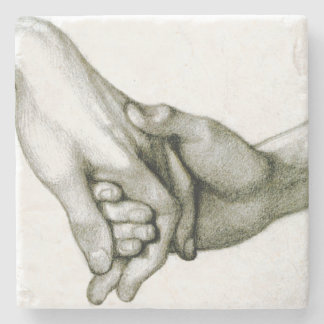 Dante Holding the Hand of Love Stone Coaster