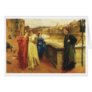 Dante Meets Beatrice Card