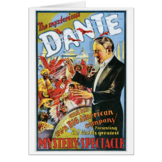 Dante ~ The Mysterious Magician Vintage Magic Act Card