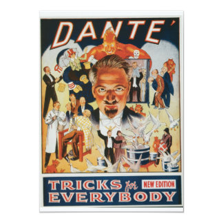 Dante Vintage Magician Advertisement 5x7 Paper Invitation Card
