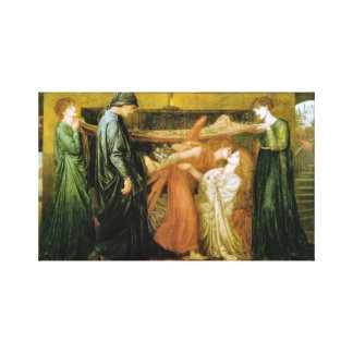 Dante's Dream at the Time of the Death of Beatrice Canvas Print