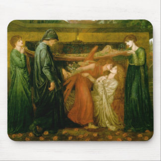 Dante's dream at the time of the death of Beatrice Mouse Pad