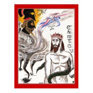 Dante's Inferno, Canto V Postcard