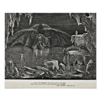 Dante's Inferno Devil in Hell Illustration Posters