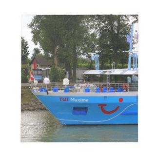 Danube cruise ship, Durnstein, Austria Notepad