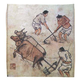 Danwon Nongali Korean rice field ploughing Bandanas