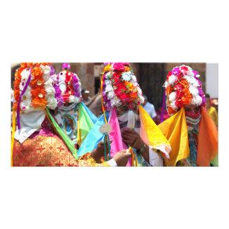 Danza de los Moros, Lake Ziruhuen Mexico Photo Card Template