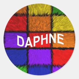 DAPHNE CLASSIC ROUND STICKER