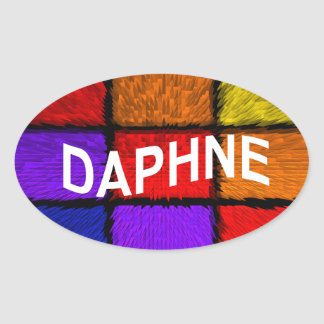 DAPHNE OVAL STICKER