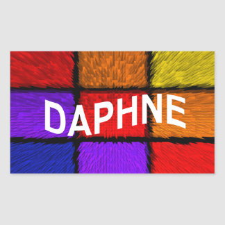 DAPHNE RECTANGULAR STICKER