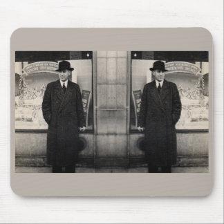 dapper 1930s twin men photo mouse pad