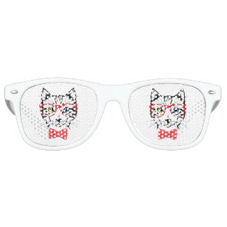 Dapper Cats Logo Wayfayers Retro Sunglasses