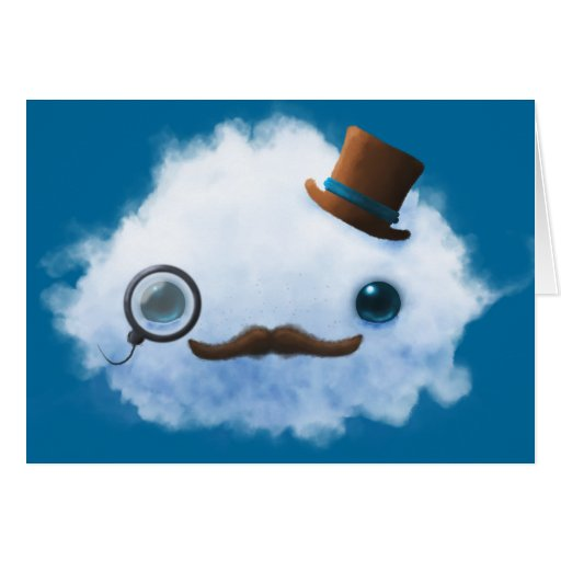 Dapper Cloud Greeting Card