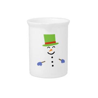 DAPPER SNOWMAN PITCHER