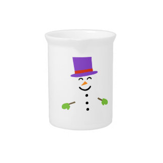 DAPPER SNOWMAN PITCHER