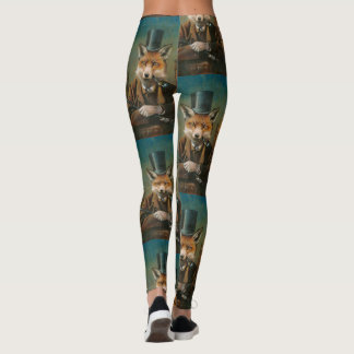 Dapper Victorian Fox Leggings