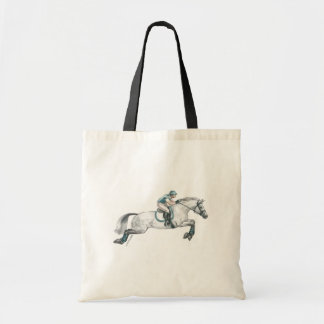 Dapple Grey Eventing Horse Jumping Tote Bag