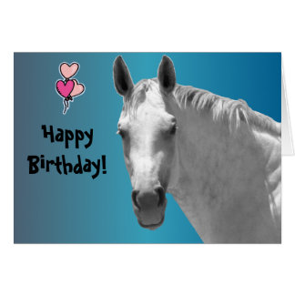 Dapple Grey Horse Card