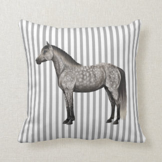 DAPPLE GREY HORSE PILLOW