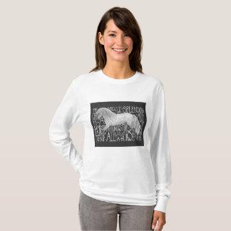 Dapple grey pony tee shirt