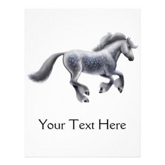 Dappled Grey Draught   Horse Flyer