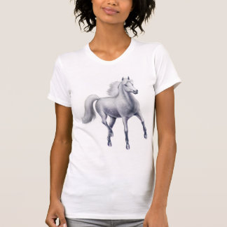 Dappled Grey Horse Scoop Neck Shirt