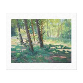 Dappled light painting canvas print